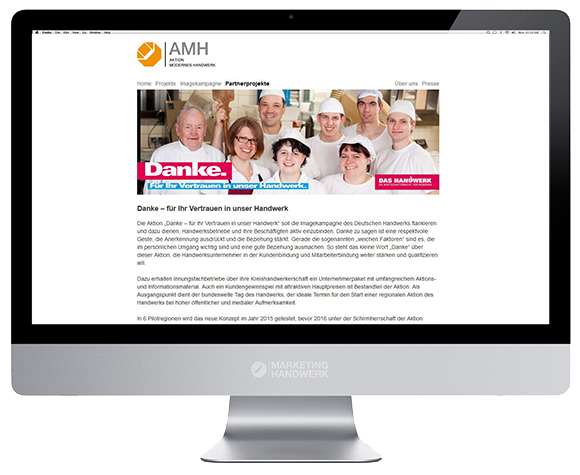 AMH - Danke Aktion - Partner Projekte
